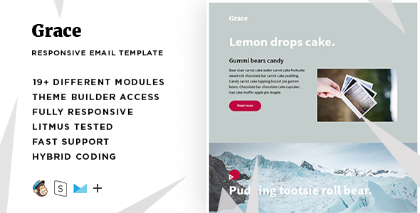 Grace – Responsive Email + StampReady Builder TFx Hunter Ainsley