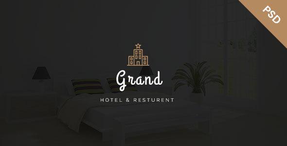 Grand - Hotel & Resturent PSD Template TFx Maddox Carleton