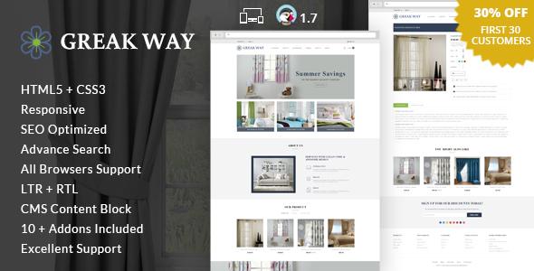 Greak Way - Home Decor Prestashop Theme - Shopping PrestaShop TFx Eugene Cuthbert