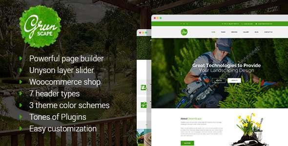 Greenscape - Lawn & Garden Landscaping WordPress Theme TFx Gyles Anthony