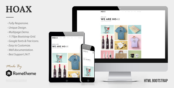HOAX – Creative Multipurpose HTML Template – Portfolio Creative TFx Cleveland Mayson