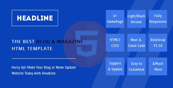 Headline, A Blog and Magazine HTML Template - Miscellaneous Site Templates TFx Carl Timothy