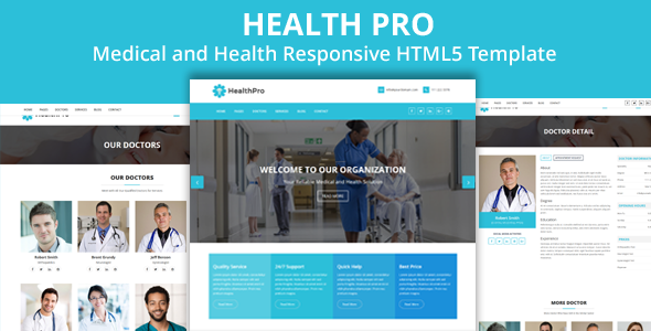 HealthPro - Medical and Health Responsive HTML5 Template - Retail Site Templates TFx Bleda Aidan