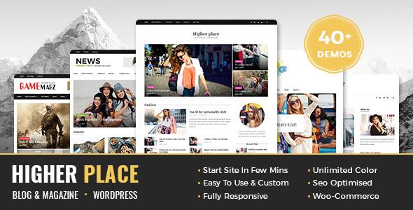 Higher Place - Multi-Purpose Blog & Magazine WordPress Theme - Blog / Magazine WordPress TFx Zac Davis
