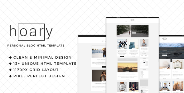 Hoary - Minimal Blog HTML Template - Personal Site Templates TFx Ren Sinclair