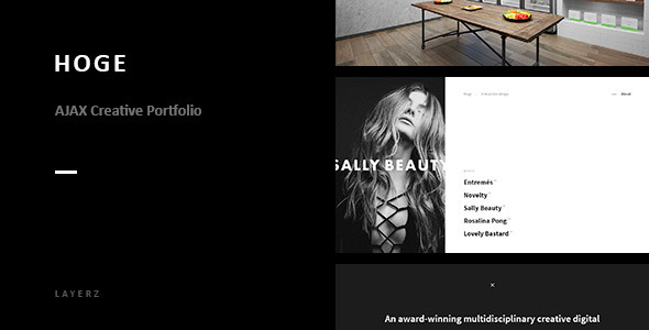 Hoge - Ajax Creative Portfolio - Creative Site Templates TFx Melville Kirk