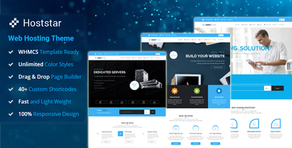 HostStar - Web Hosting and Corporate Business WordPress Theme - Hosting Technology TFx Kurtis Perry