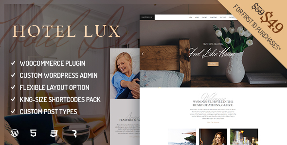 Hotel Lux - Resort & Hotel WordPress Theme - Travel Retail TFx Wilburn Richard