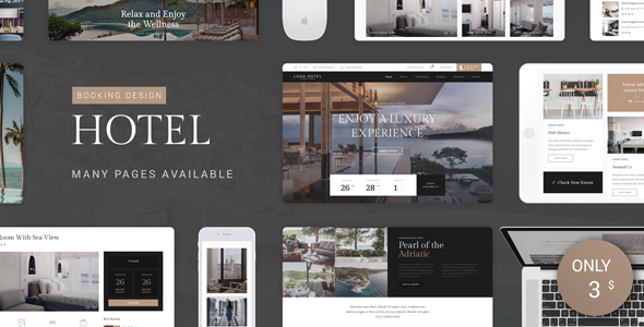 Hotel PSD Template - Travel Retail TFx PSDTemplates Shaquille Pacey