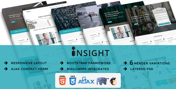 INSIGHT - Multipurpose Responsive HTML Landing Pages - Marketing Corporate TFx Jaylen Lanford