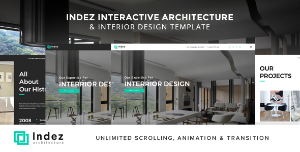 Indez – Interactive Architecture & Interior Template – Creative Site Templates TFx Deemer Shota