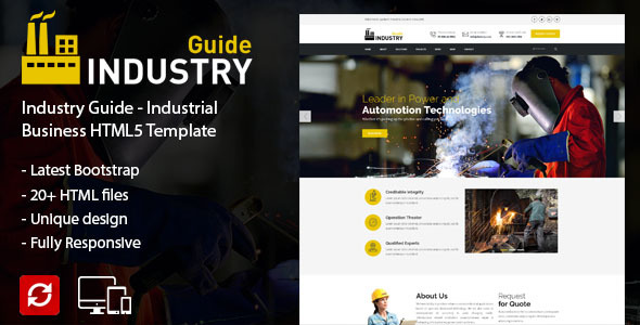 Industry Guide –  Industrial Business HTML Template – Creative Site Templates TFx Frazier Justice