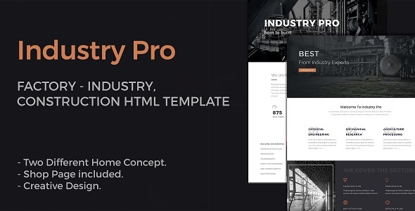 IndustryPro - Factory, Industrial, Construction Business HTML Template - Business Corporate TFx Lyle Komang