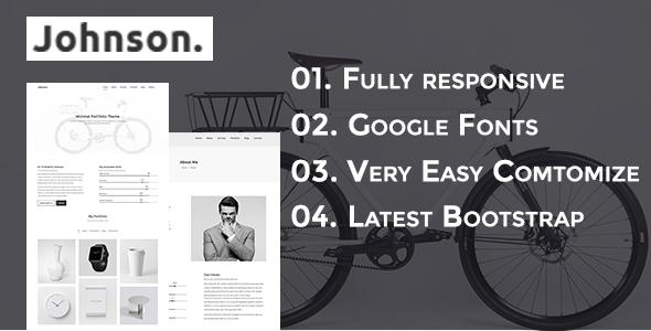 JHONSON – Minimal Portfolio HTML5 Template – Portfolio Creative TFx Leonardo Basil