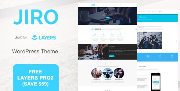 JIRO | Layers Business WordPress Theme - Business Corporate TFx Jessie Odin