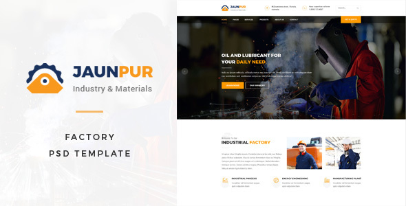 Janpur : Factory PSD Template – Business Corporate TFx Dustin Solomon