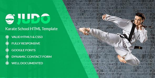 Judo - Karate School HTML Template - Health & Beauty Retail TFx Rodger Ryuunosuke