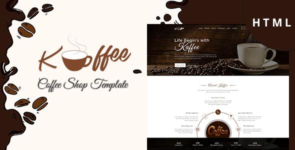 Kaffee - Coffee Shop Business HTML Template - Food Retail TFx Thessur Ayden
