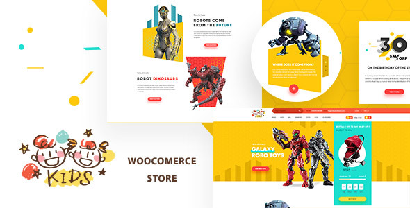 Kids - Baby Shop & Kids Store WooCommerce Theme - Children Retail TFx Poghos Laurence