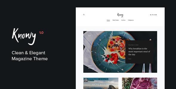 Knowy - Clean & Elegant Magazine Blog Theme - Blog / Magazine WordPress TFx Zak Kris