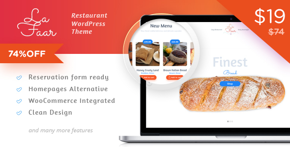 Lafaar - Restaurant & Food Menus WooCommerce Theme TFx Ichirou Willie
