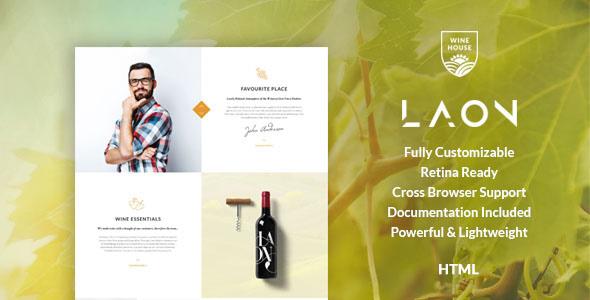 Laon | Wine House, Winery & Wine Shop HTML Template - Food Retail TFx Walter Hiawatha