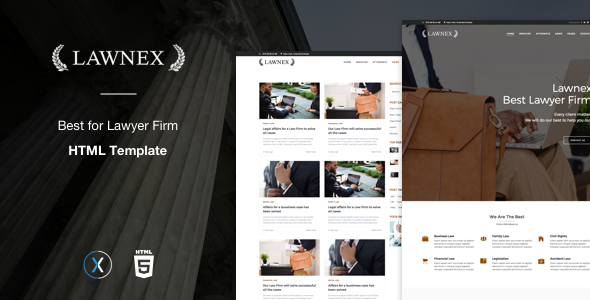 Lawnex a Lawyers Firm Template - Corporate Site Templates TFx Gordy Hannibal