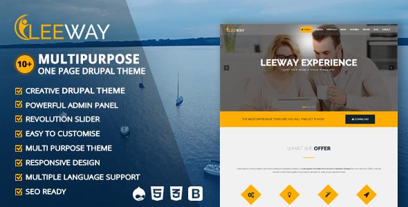 Leeway - Multipurpose One Page Drupal Theme - Creative Drupal TFx Putu Foster
