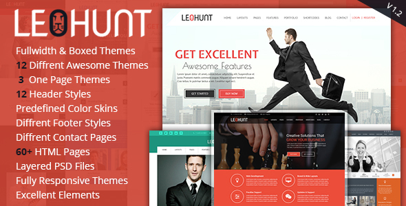 LeoHunt - Responsive Multi-Purpose WordPress Theme - Business Corporate TFx Silver Lane