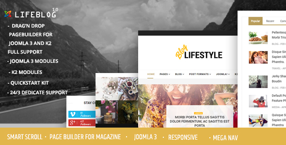 Lifeblog – Joomla Lifestyle Blogging and Magazine – Personal Blog / Magazine TFx Hasdrubal Rudolf