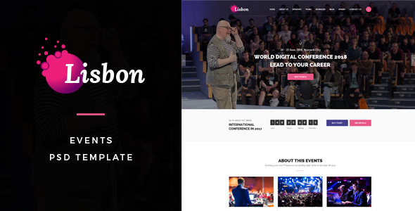 Lisbon : Events PSD Template - Events Entertainment TFx Geoffrey Shelton