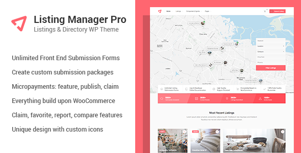Listing Manager Pro - Directory Theme for WooCommerce - Directory & Listings Corporate TFx Homer Larrie