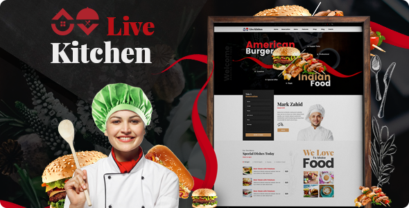Livekitchen | Restaurant Cafe WordPress Theme - Restaurants & Cafes Entertainment TFx Ryuunosuke Brenden