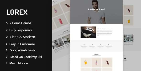 Lorex - Responsive Personal  Portfolio Template - Personal Site Templates TFx Russell Pierce