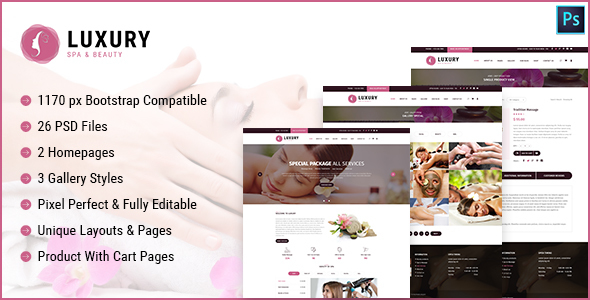 Luxury Spa and Beauty Html Template - Site Templates  TFx Albin George