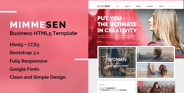 MIMMESEN | Creative Corporate HTML5 Template – Site Templates  TFx Xavior Sri