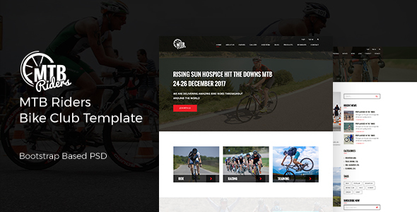 MTB Riders - Mountain Bike PSD Template TFx Bob Rain