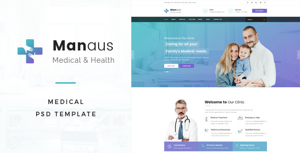 Manaus : Medical PSD Template – Business Corporate TFx Owen Harland