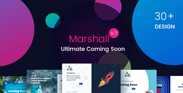 Marshall - The Ultimate Coming Soon Template - Under Construction Specialty Pages TFx Ryo Jep