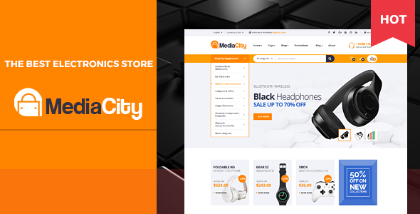 MediaCity - Technology Responsive Magento Theme - Technology Magento TFx Wisdom Albin