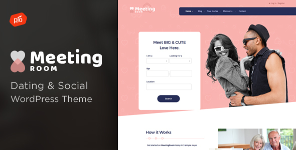 Meeting Room - Social & Dating BuddyPress Theme - BuddyPress WordPress TFx Sandy Jaden