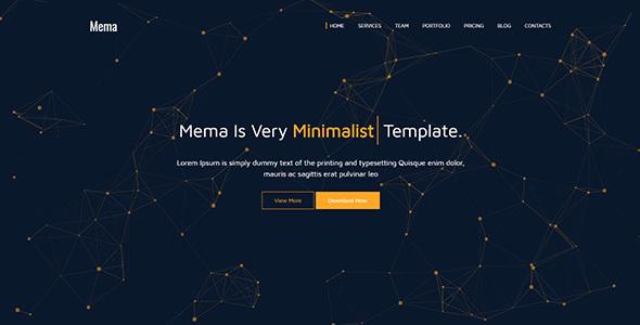 Mema    One Page HTML5 Template - Portfolio Creative TFx Akio Fraser