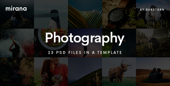 Mirana – Creative Photography PSD Template – Photography Creative TFx Isidore Carl