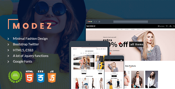 Modez – Minimal Responsive HTML Template for Fashion Shop – Fashion Retail TFx Thaddeus Ethelred