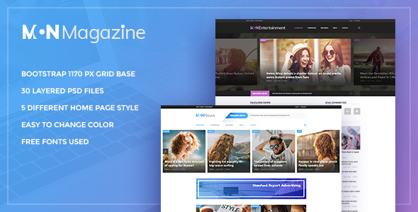 Mon Magazine - PSD Template for Magazine - Business Corporate TFx Lance Dan