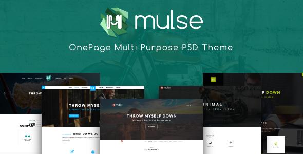 Mulse - Multi Purpose PSD OnePage Template - Creative PSD Templates TFx Cedric Rollo