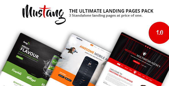 Mustang Landing Pages Pack - Landing Pages Marketing TFx Willie Connell