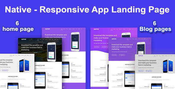 Native - Responsive App Landing Page - Technology Landing Pages TFx Issy Arlen