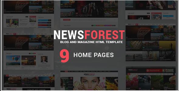 NewsForest -  Magazine / Blog HTML Template TFx Aaren Thom