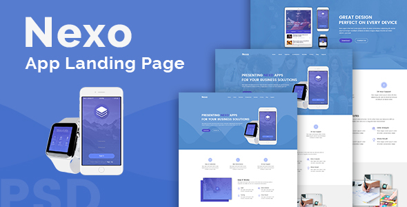 Nexo – Multipurpose Landing Page Template - Technology Site Templates TFx Jeff John